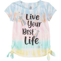 Little Girls Tie Dye Live Your Best Life Tee