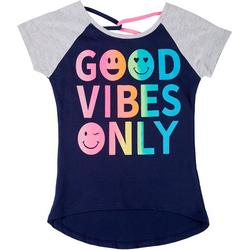 Little Girls Good Vibes Only Tee