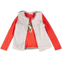 Young Hearts Big Girls 2-Pc. Unicorn Vest Set