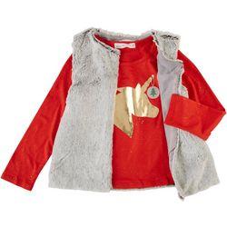 Young Hearts Little Girls 2-Pc. Unicorn Vest Set