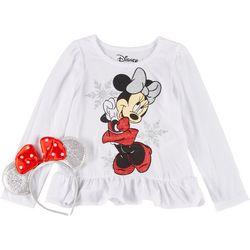 Little Girls Minnie Mouse Tee & Headband Set