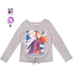 Disney Frozen II Little Girls 2-pk Fearless Top