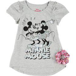 Little Girls Minnie Mouse Tee & Scrunchie Set