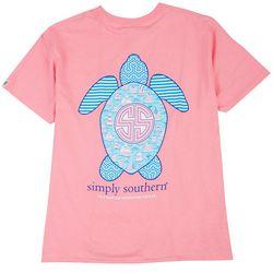 Simply Southern Big Girls Sea Turtle Sailboat T-Shirt
