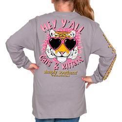 Big Girls Long Sleeve Cats & Kittens T-Shirt