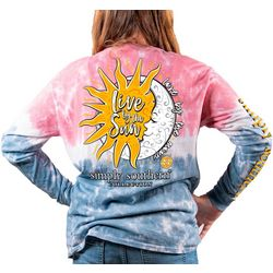 Simply Southern Big Girls Tie Dye Live By The Sun T-Shirt