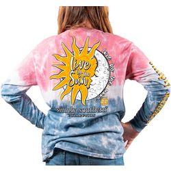 Big Girls Tie Dye Live By The Sun T-Shirt
