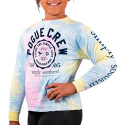 Simply Southern Big Girls Tie Dye Pogue Crew