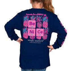 Simply Southern Big Girls Be Nice Long Sleeve T-Shirt