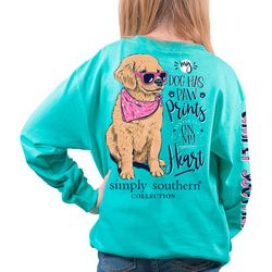 Simply Southern Big Girls  Paw Prints T-Shirt