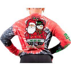 Big Girls Tie Dye Santa Truck T-Shirt