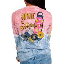Big Girls Tie Dye Simple Is Better T-Shirt
