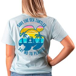 Simply Southern Big Girls Save The Sea Turtles T-Shirt
