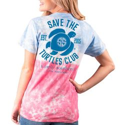 Simply Southern Big Girls Tie Dye Save The Turtles Club Tee