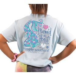 Simply Southern Big Girls Mermaid At Heart T-Shirt