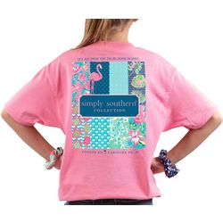 Simply Southern Big Girls Preppy Logo T-Shirt