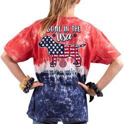 Big Girls Tie Dye Bone In The USA T-Shirt