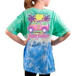 Big Girls Sunshine State Tie-Dye Tee