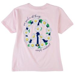 Big Girls Peace Floral T-Shirt