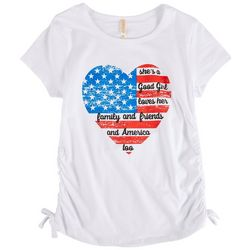 Runway Girl Big Girls Americana Heart T-Shirt