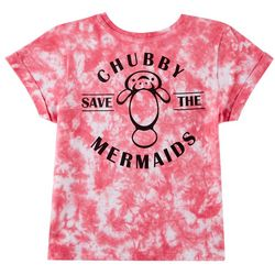 Chubby Mermaids Big Girls Tie Dye T-Shirt