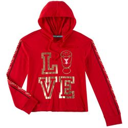 Chubby Mermaids Big Girls Long Sleeve Love Hoodie