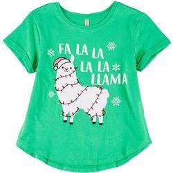 Little Girls Fa La La Llama Tee