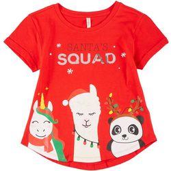 Runway Little Girls Santa's Squad Tee