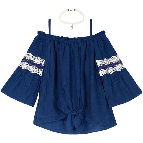 Amy Byer Girls Big Tie Front Skort Skirt