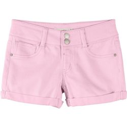 Vanilla Star Big Girls Solid Roll Cuff Denim Shorts