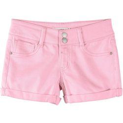 Big Girls Solid Denim Shorts