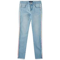 Big Girls Sequin Side Tape Denim Jeans