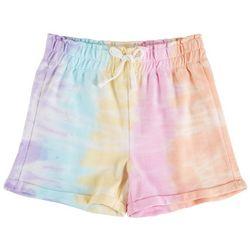 Vanilla Star Big Girls Tie Dye Stripe Knit Shorts