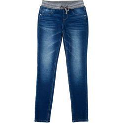 Vanilla Star Big Girls Rib Waist Denim Jeans