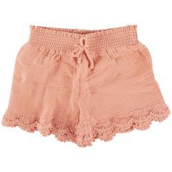 Big Girls Crochet Smocked Shorts