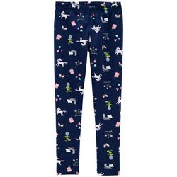 Little Girls Unicorn Rainbow Pull-On Leggings