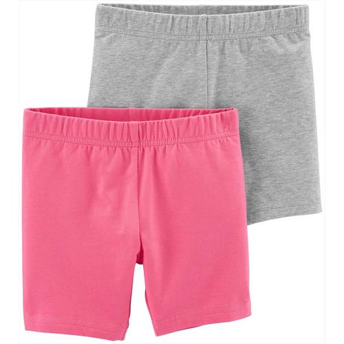 Carters Girls 4-6X Knit Pull On Shorts White