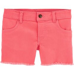 Carters Little Girls Solid Denim Shorts