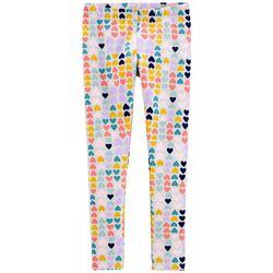 Carters Little Girls Heart Print Pull-On Leggings