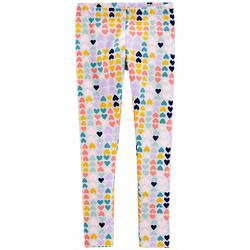 Little Girls Heart Print Pull-On Leggings