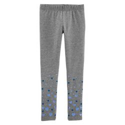 Carters Little Girls Glittery Hearts Leggings