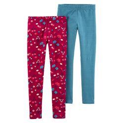 Carters Big Girls 2-Pc. Floral & Stripe Leggings Set