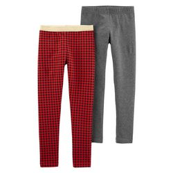 Carters Little Girls 2-pc. Xmas Pull-On Leggings