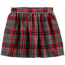 Little Girls Xmas Plaid Skirt