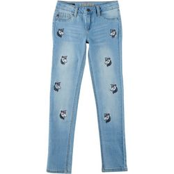 Vigoss Little Girls All Over Unicorn Denim Jeans