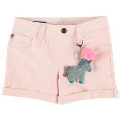 Vigoss Little Girls Roll Cuff Pull-On Solid Knit Shorts