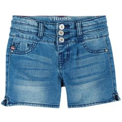 Vigoss Big Girls Stacked Waist Denim Shorts