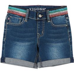 Vigoss Little Girls Rainbow Waist Midi Shorts