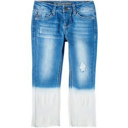 Little Girls Dip Dye Ankle Jeans