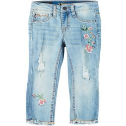 Little Girls Pretty Buds Cropped Jeans